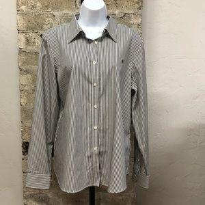 NWT Lauren Ralph Lauren Long Sleeve Striped Shirt